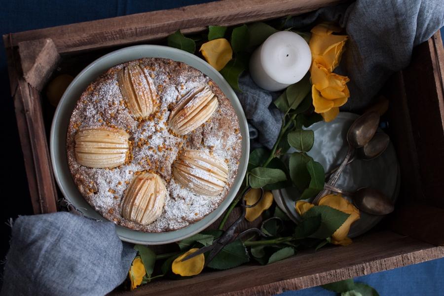 vegan apple and parsnip cake recipe - The Little Plantation