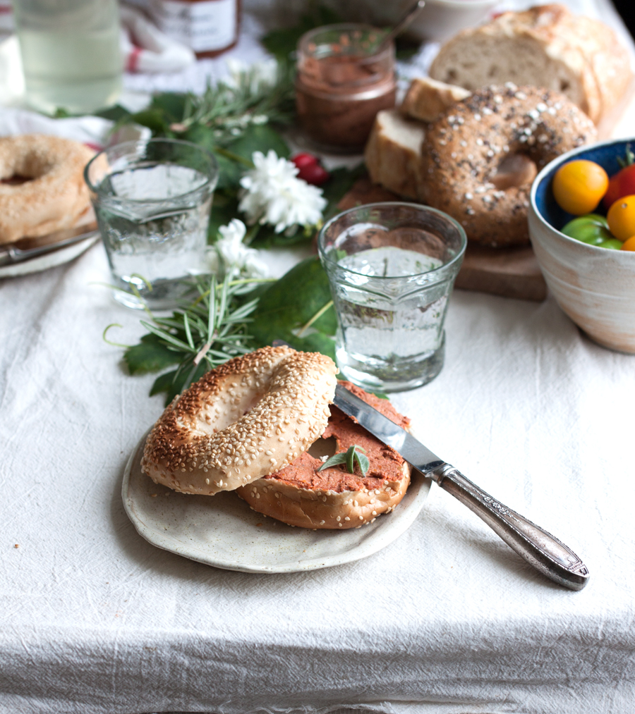vegan sun-dried tomato pate recipe - The Little Plantation