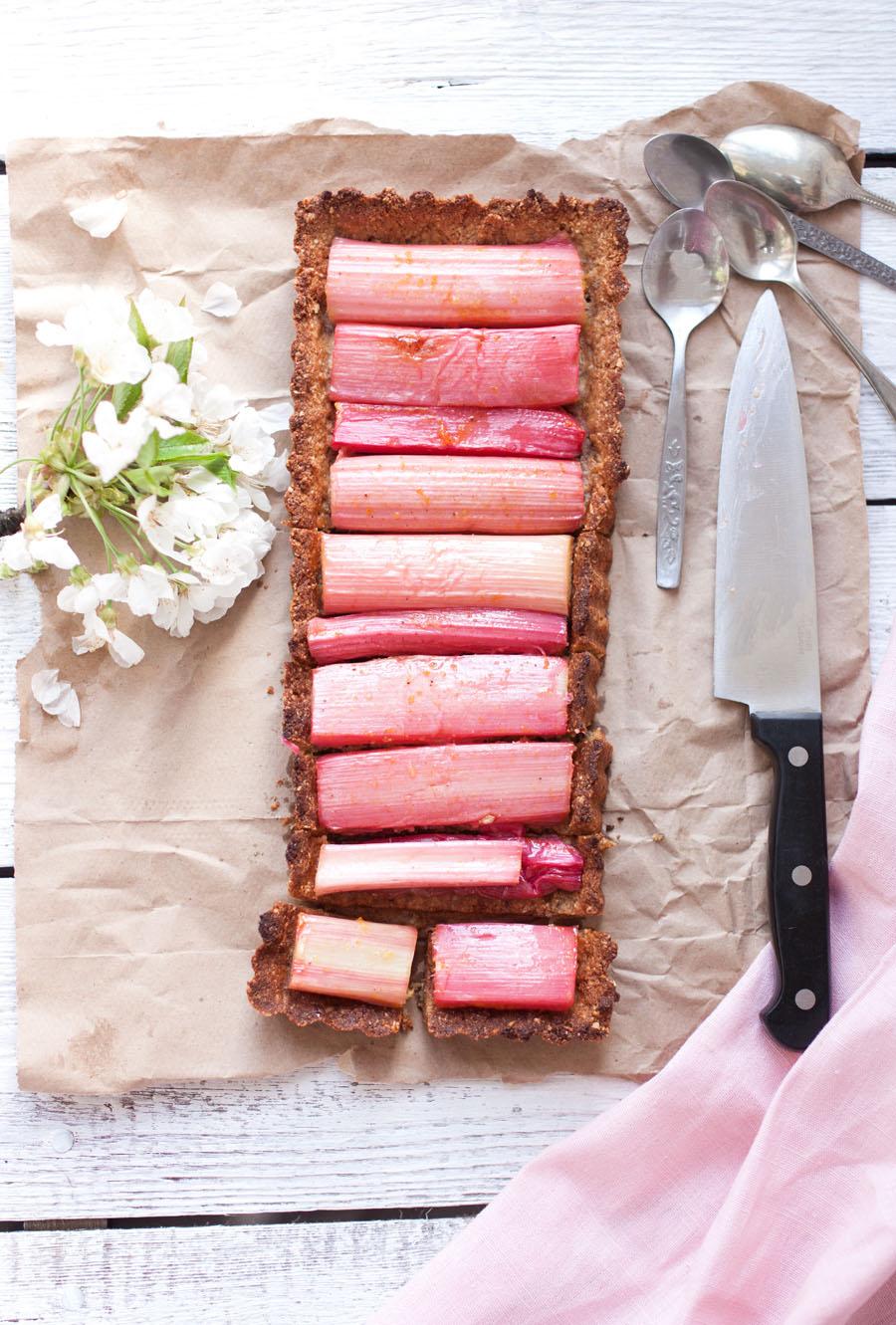 sweet rhubarb tart - The Little Plantation