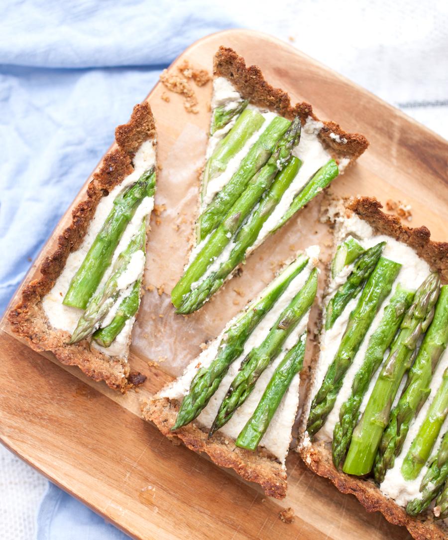 How to make a vegan asparagus tart - The Little Plantation