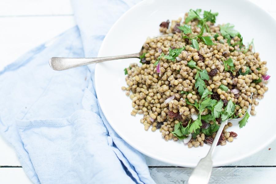vegan mung bean salad - The Little Plantation