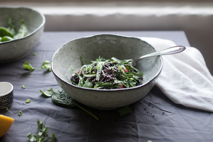 How to make warm Japanese Black Noodles - The Little Plantation