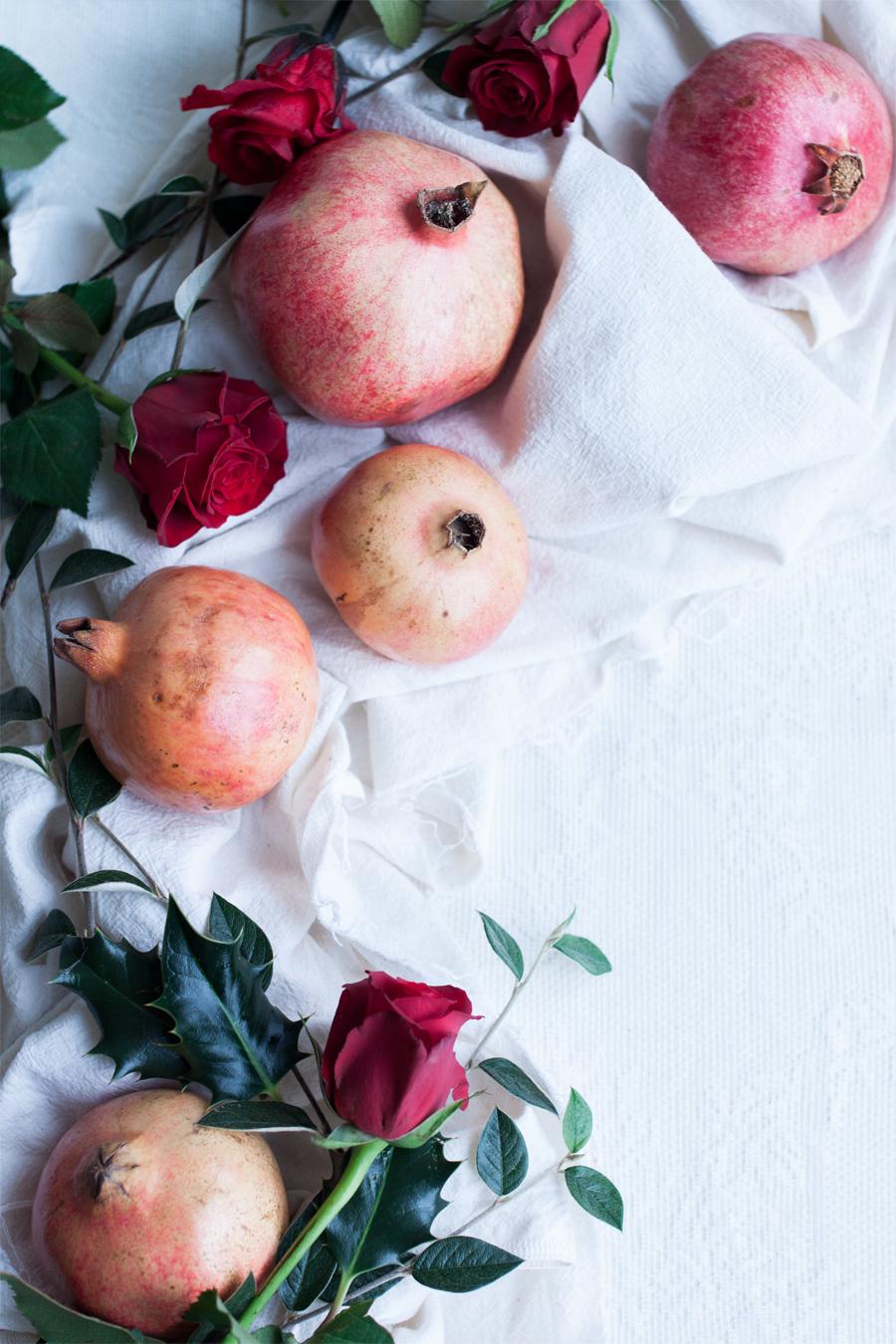 Roasted Red Kuri Squash with Sumac, Pomegranates and Greens recipe - The Little Plantation