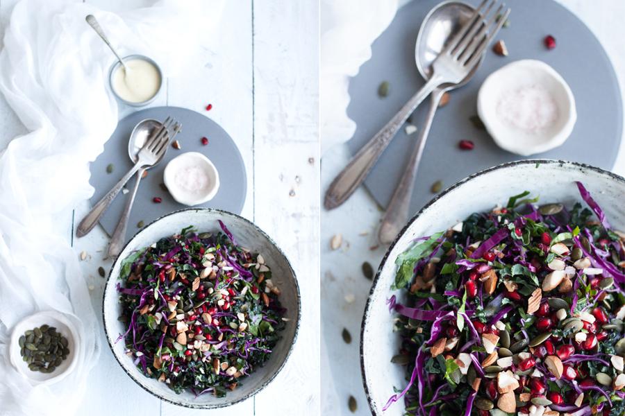 How to make vegan winter rainbow salad - The Little Plantation
