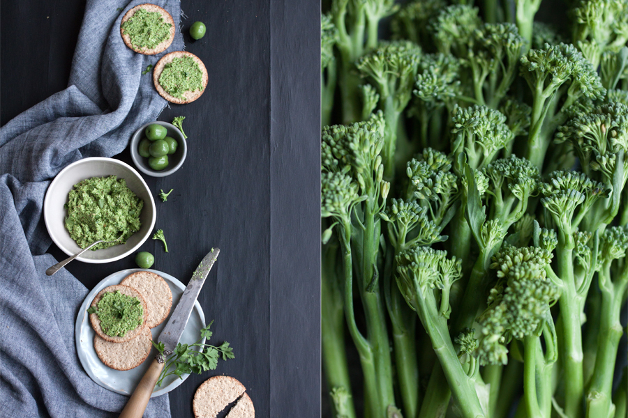 Raw Vegan Tenderstem Pesto Recipe - The Little Plantation