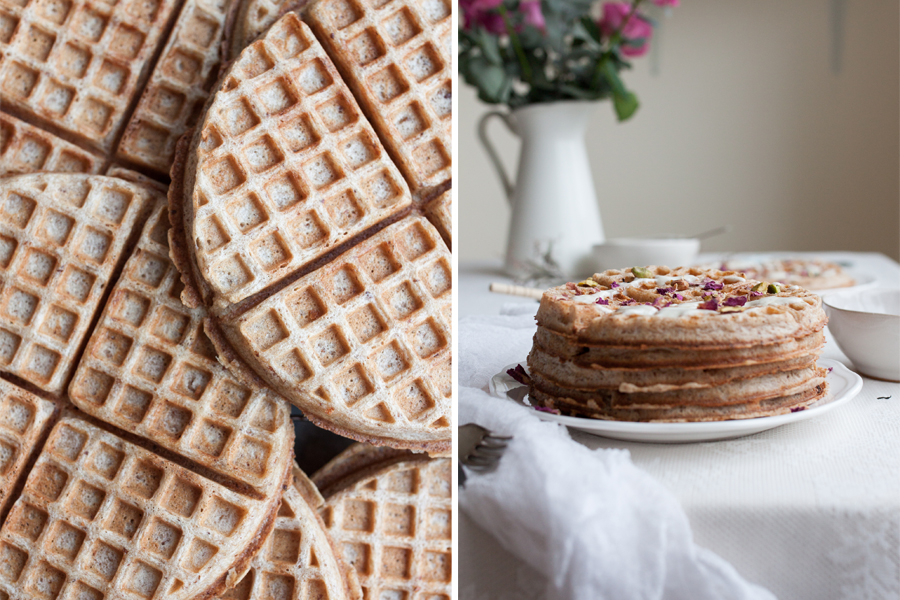 How to make vegan sourdough spelt waffles - The Little Plantation