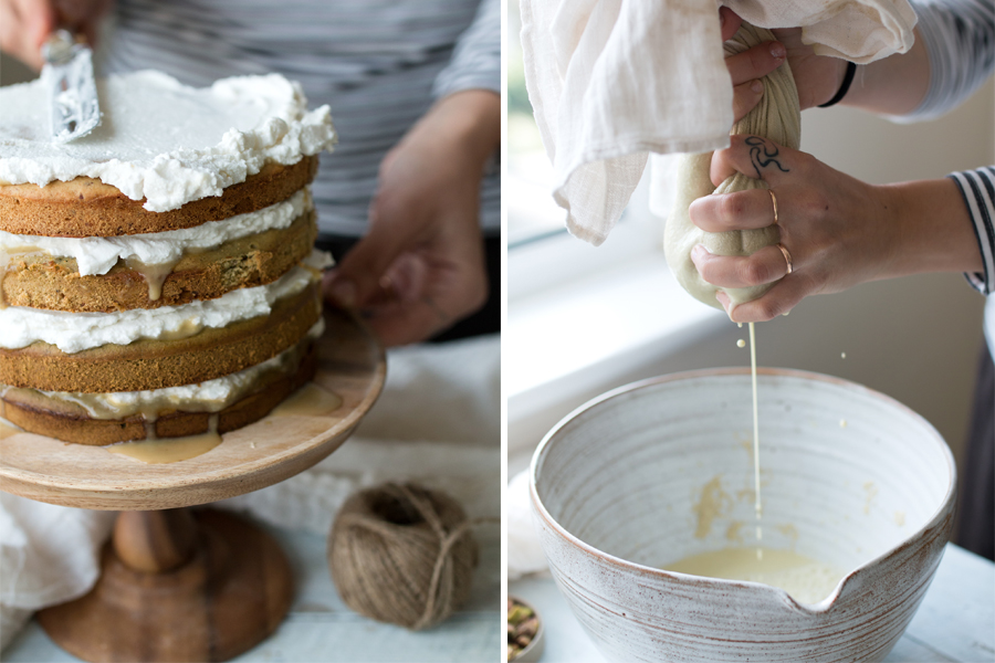 vegan matcha tres leches cake recipe - The Little Plantation