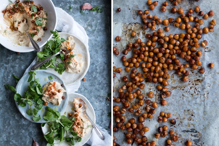 Vegan Hummus Mesabacha recipe - The Little Plantation