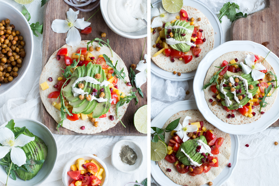 Vegan Tacos with Mango Salsa - The Little Plantation