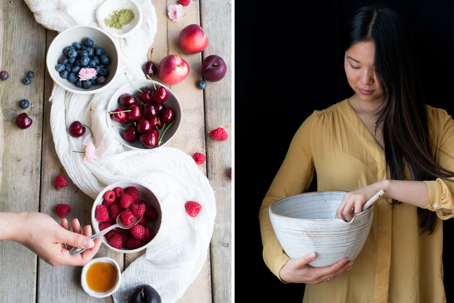 Gluten-free matcha waffles and summer fruits recipe - The Little Plantation