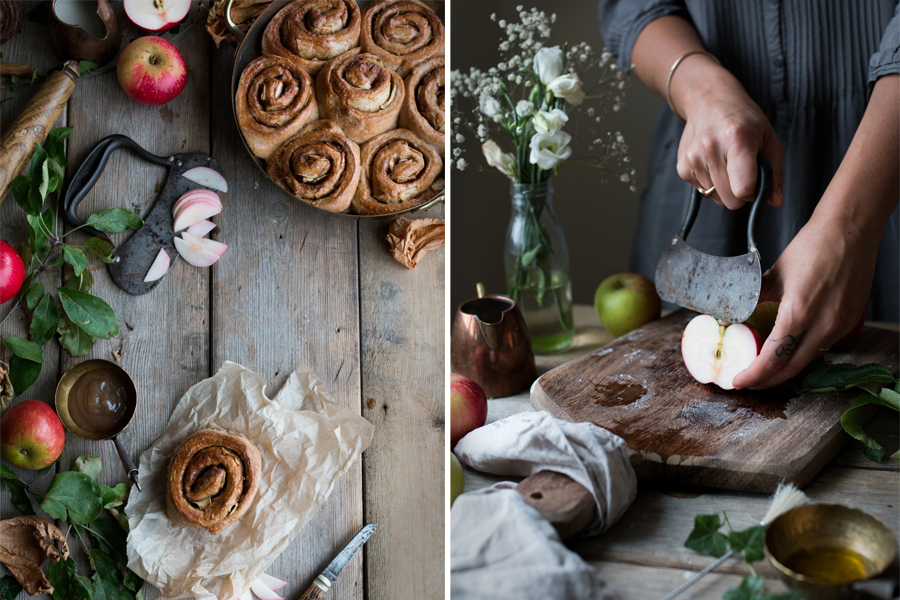 How to make vegan cinnamon apple rolls - The Little Plantation