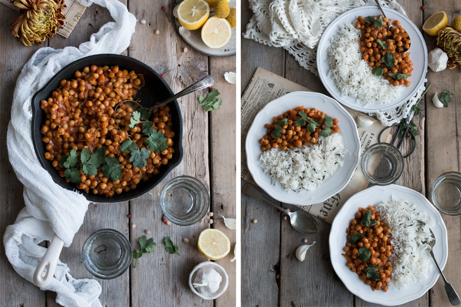 Vegan Chickpea Curry - The Little Plantation