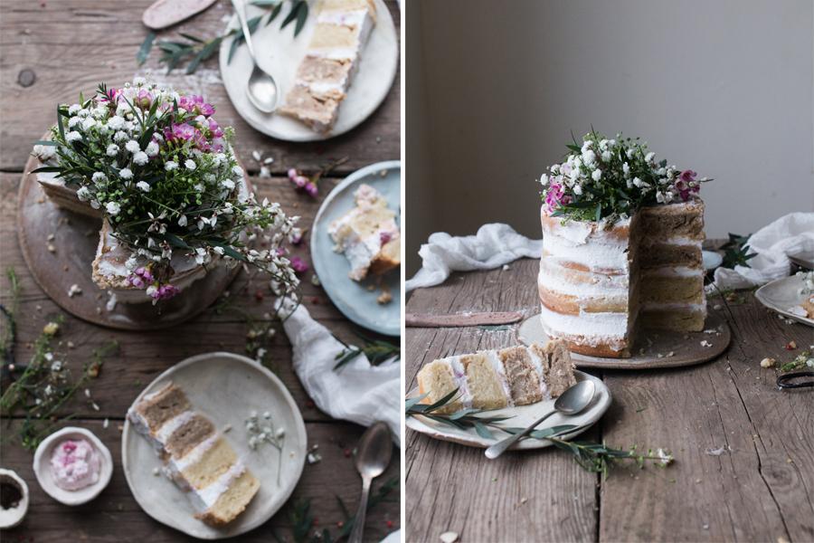Vegan Rhubarb Layer Cake - The Little Plantation