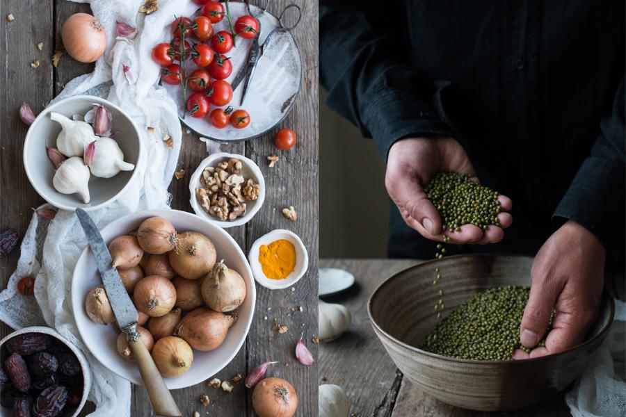 How to make vegan mung bean rostis - The Little Plantation