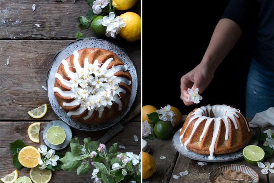 vegan Lemon Drizzle Bundt Cake recipe - The Little Plantation