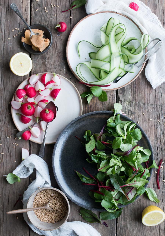 Maple and Miso Grain and Radish Salad - The Little Plantation