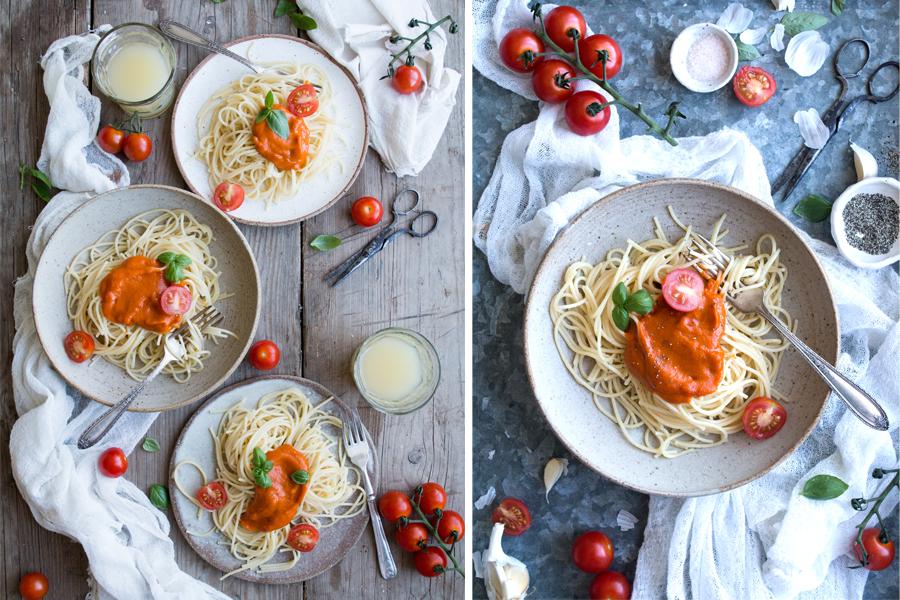 How to make Vegan Tomato Pasta Sauce - The Little Plantation