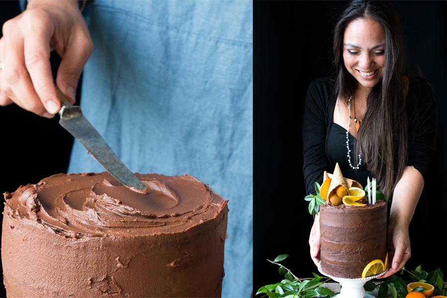 How to make vegan chocolate orange cake - The Little Plantation