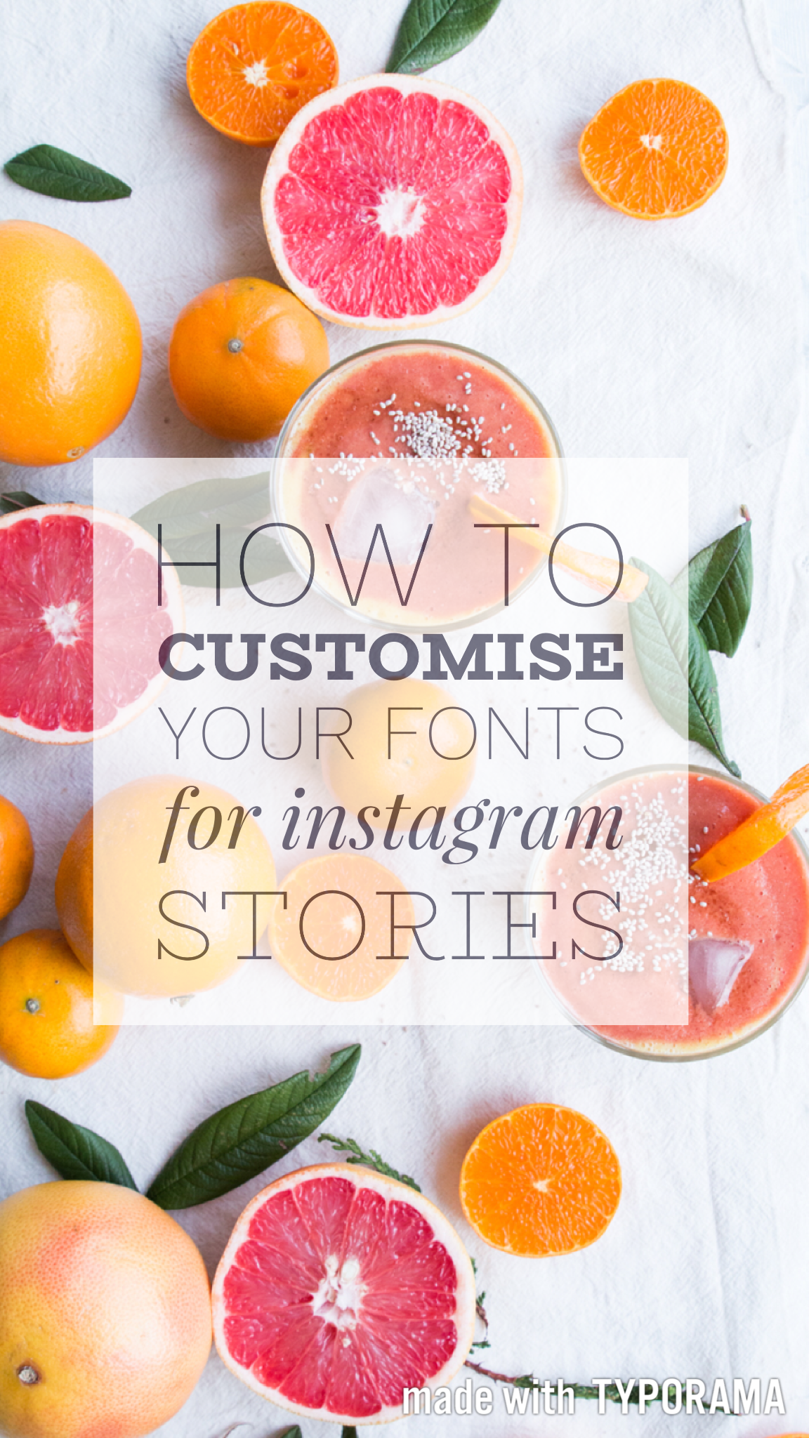 HOW YOU CAN CUSTOMISE YOUR FONTS ON INSTAGRAM STORIES — a vegan food