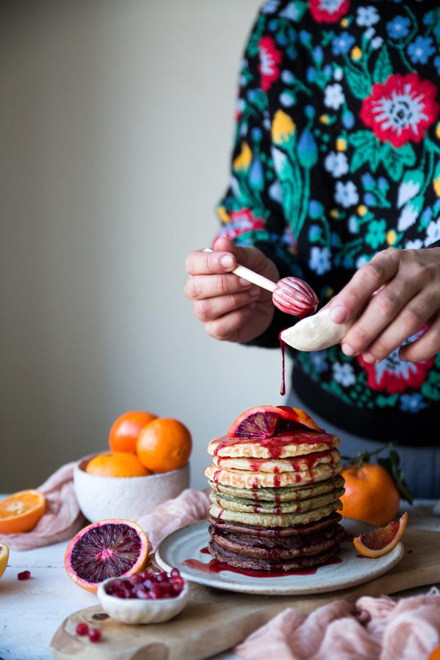 How to make a vegan pancake stack - The Little Plantation blog