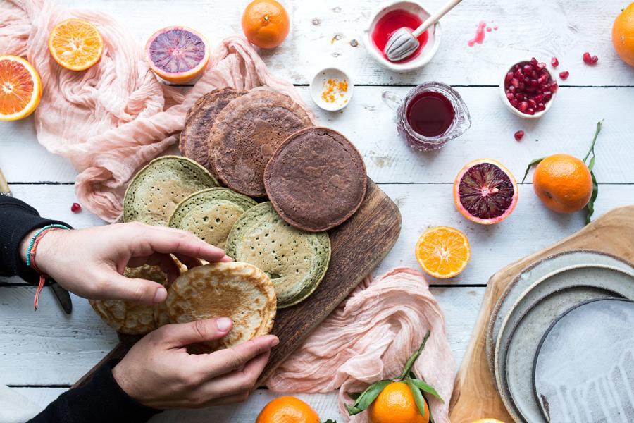 How to make vegan pancakes - The Little Plantation blog