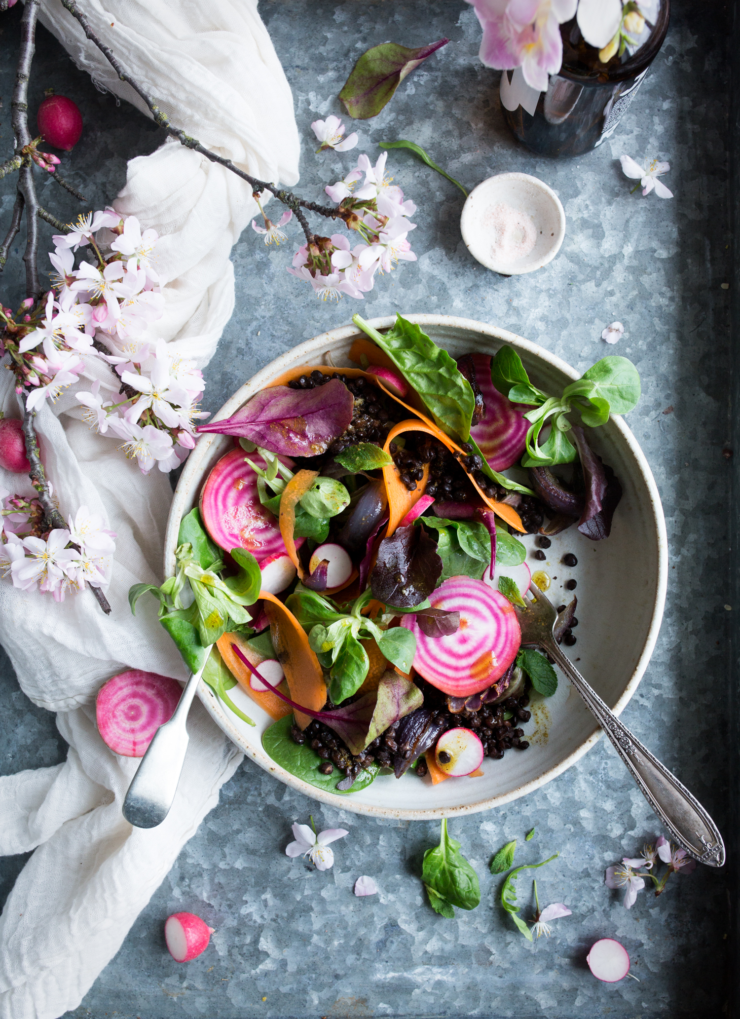 Protein rich vegan lentil salad recipe