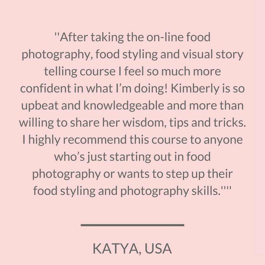 Online food styling and photography classes