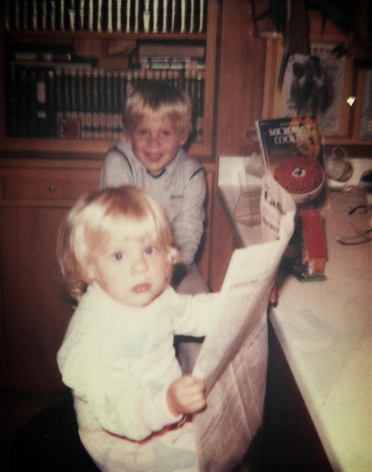 Busy reading, circa 1984