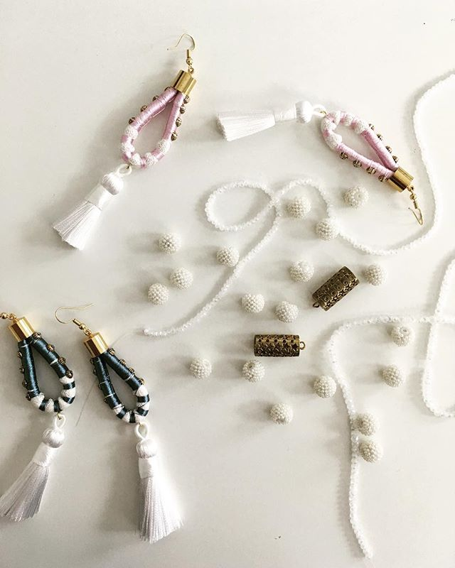 White accent accessories for summer.  #musemejewelry