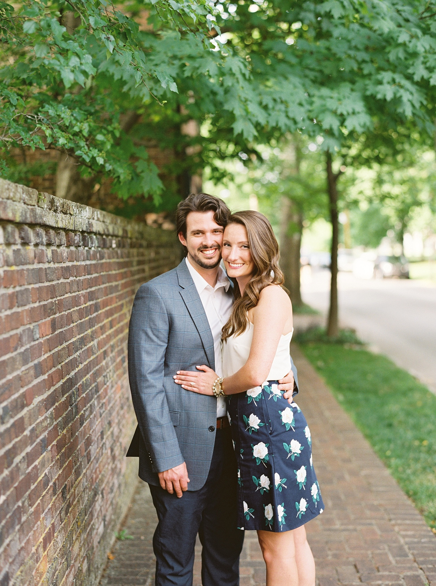 Downtown Lexington Engagement Session Talon Winery Picnic Engagement Session Gal Meets Glam Anthropologie Dress Laura Bodnar Photography Lexington Wedding Photographer Film Photography_0006-1.jpg