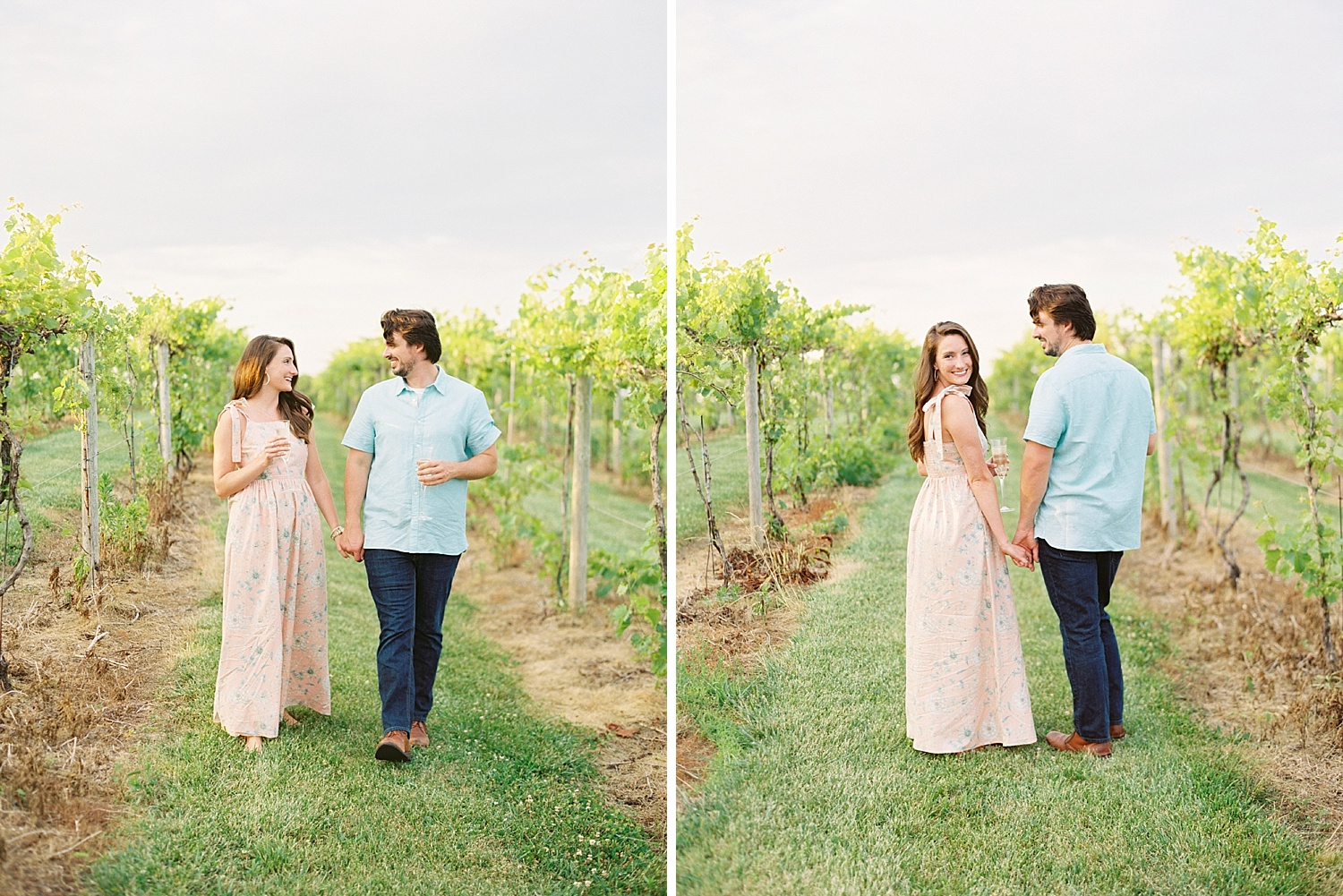 Downtown Lexington Engagement Session Talon Winery Picnic Engagement Session Gal Meets Glam Anthropologie Dress Laura Bodnar Photography Lexington Wedding Photographer Film Photography_0016-1.jpg