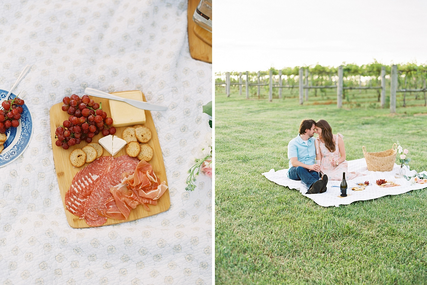 Downtown Lexington Engagement Session Talon Winery Picnic Engagement Session Gal Meets Glam Anthropologie Dress Laura Bodnar Photography Lexington Wedding Photographer Film Photography_0014-1.jpg