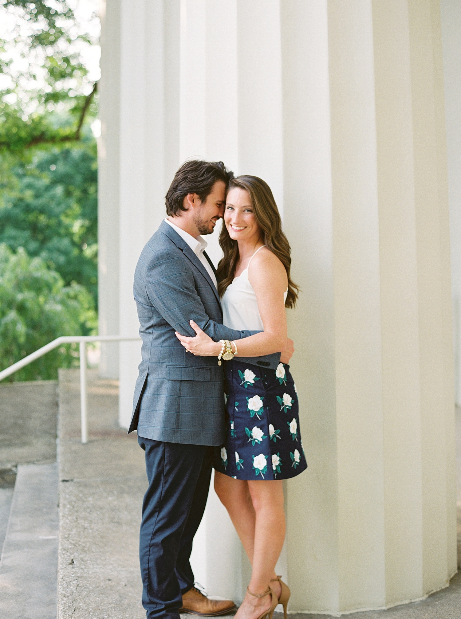 Downtown Lexington Engagement Session Talon Winery Picnic Engagement Session Gal Meets Glam Anthropologie Dress Laura Bodnar Photography Lexington Wedding Photographer Film Photography_0009-1.jpg