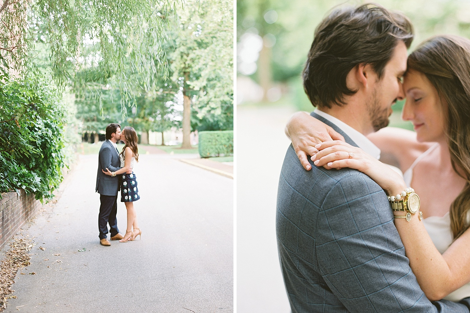 Downtown Lexington Engagement Session Talon Winery Picnic Engagement Session Gal Meets Glam Anthropologie Dress Laura Bodnar Photography Lexington Wedding Photographer Film Photography_0007-1.jpg