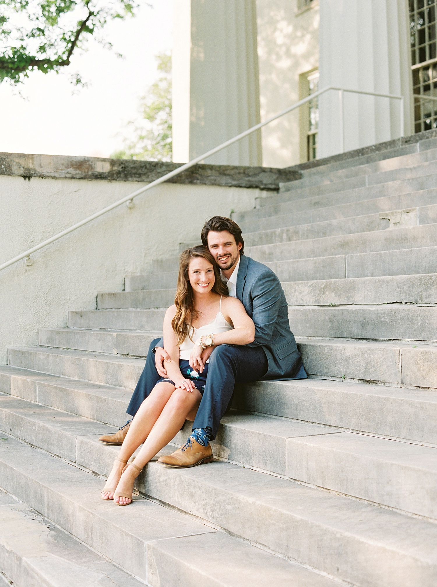 Downtown Lexington Engagement Session Talon Winery Picnic Engagement Session Gal Meets Glam Anthropologie Dress Laura Bodnar Photography Lexington Wedding Photographer Film Photography_0008-1.jpg