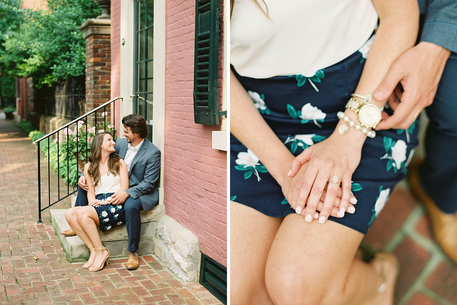 Downtown Lexington Engagement Session Talon Winery Picnic Engagement Session Gal Meets Glam Anthropologie Dress Laura Bodnar Photography Lexington Wedding Photographer Film Photography_0003-1.jpg