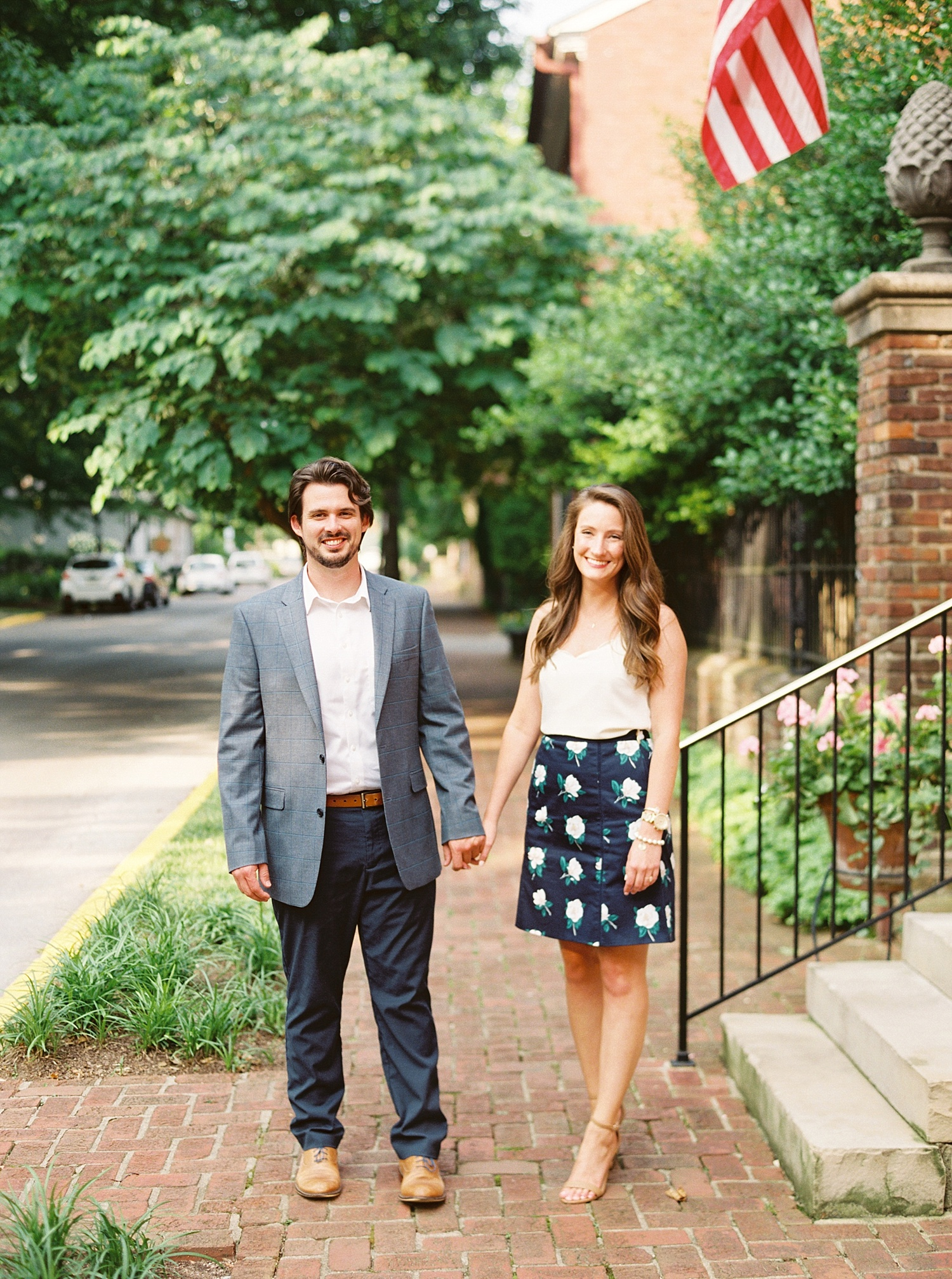 Downtown Lexington Engagement Session Talon Winery Picnic Engagement Session Gal Meets Glam Anthropologie Dress Laura Bodnar Photography Lexington Wedding Photographer Film Photography_0002-1.jpg