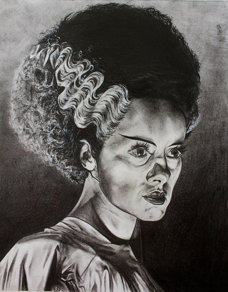 """Available for trade  Graphite Pencils, Charcoal, & White Pen  On Bristol Paper  9x12""""s"""