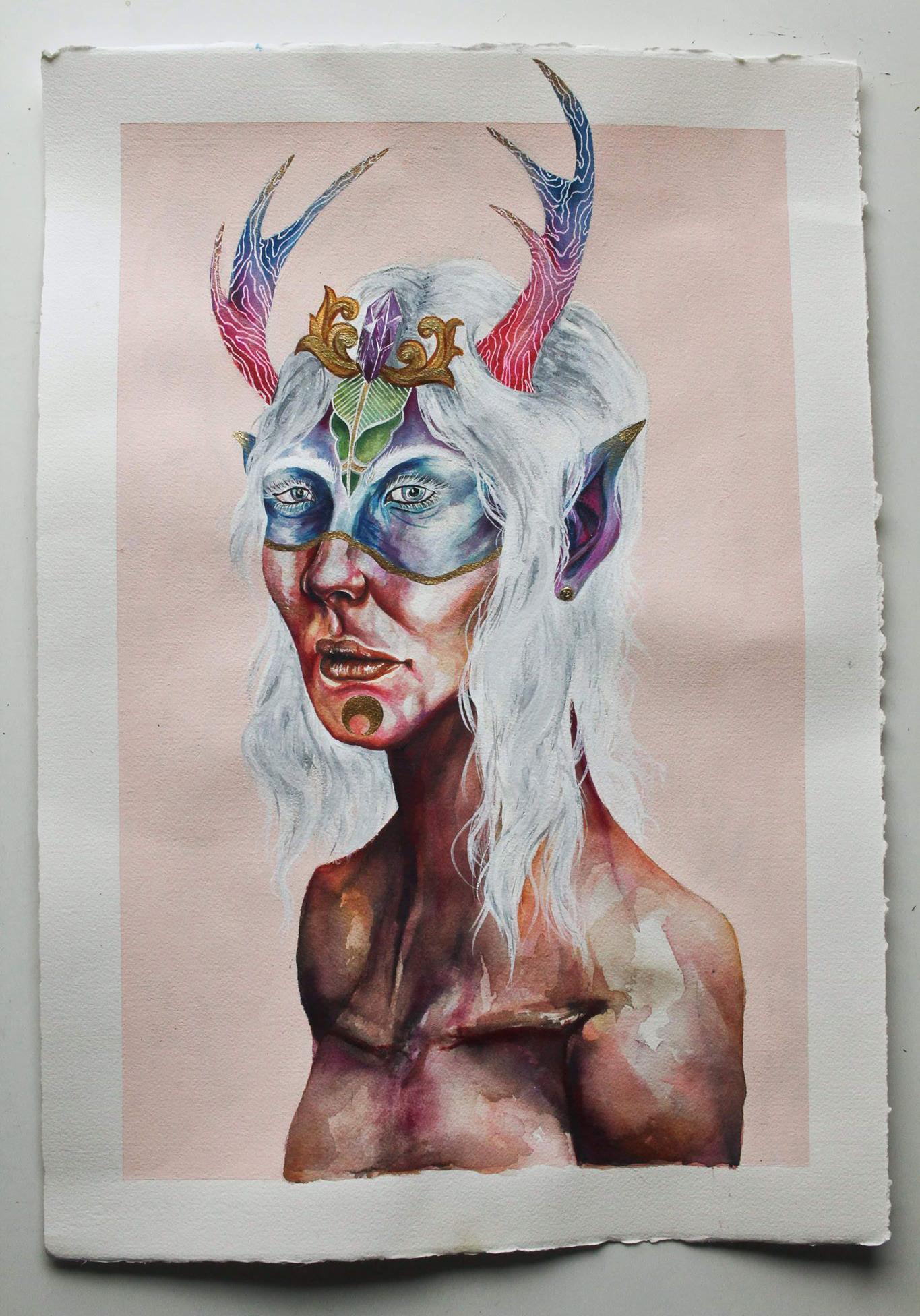 """Available for Purchase  Watercolour Paint and Gouache  On 140lb Arches cold press rag paper  16x23""""s"""