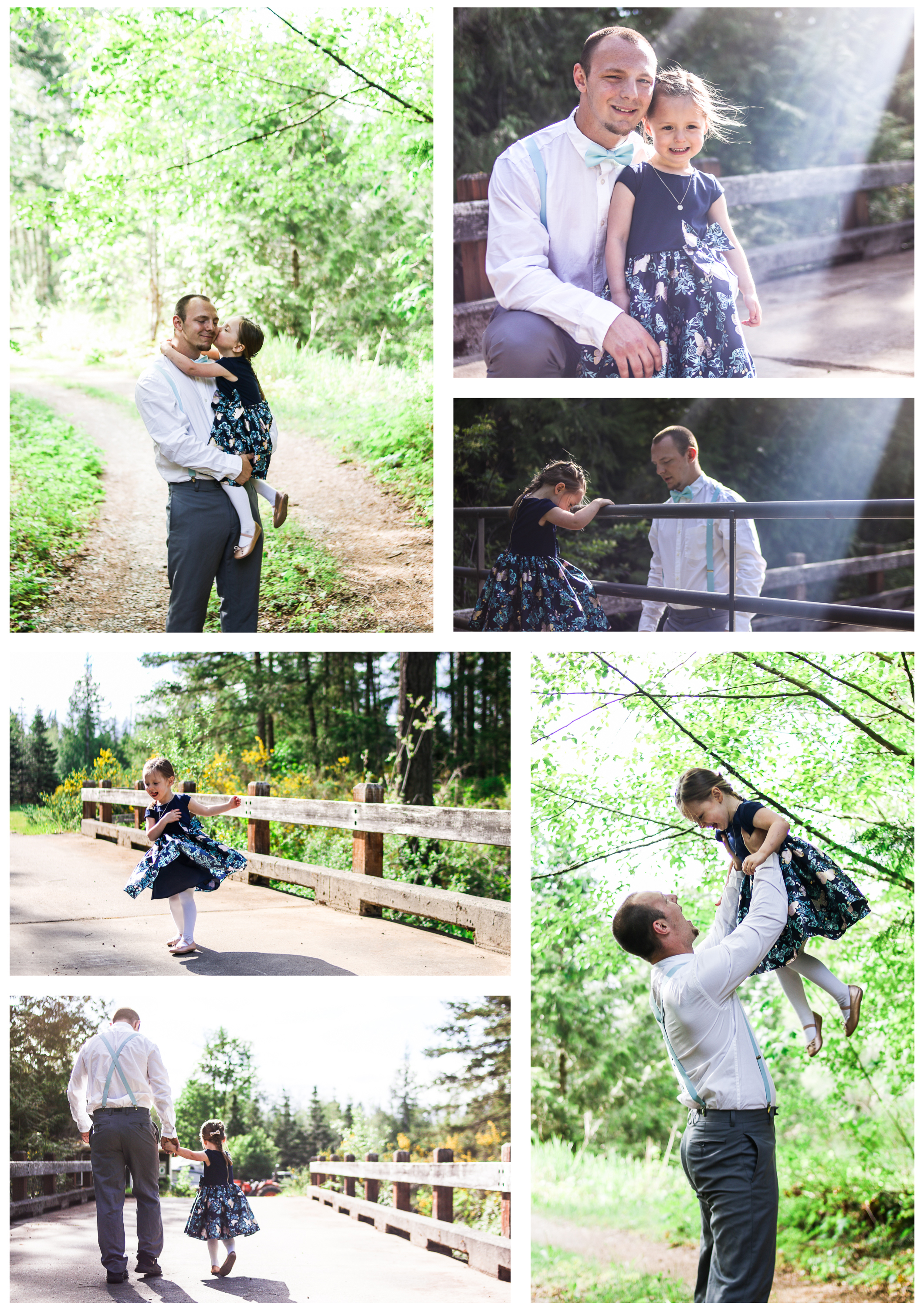 Kitsap county daddy daughter dance lifestyle adventure session PNW photography