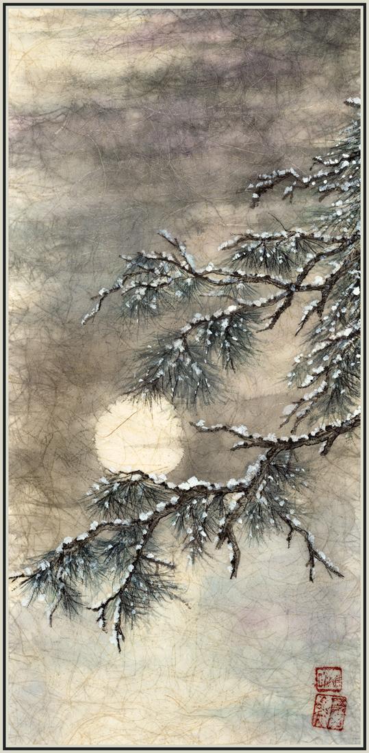 Snowy Pine and Moon.jpg