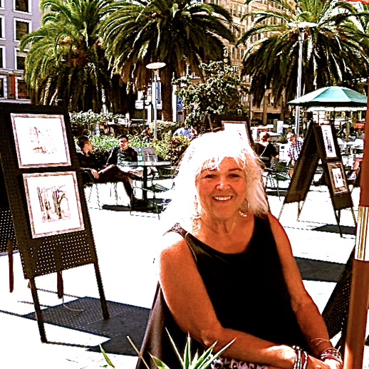 RED UMBRELLAS ART EXHIBITIONS - Most weekends you can find me at a Red Umbrellas Art Exhibition — Union Square or Golden Gate Park, Maiden Lane . . . the schedule is always posted on the Red Umbrellas site, come join us (I'll buy the coffee!)