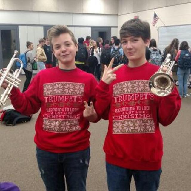 Look at these tacky Christmas sweatshirts, omgsocute