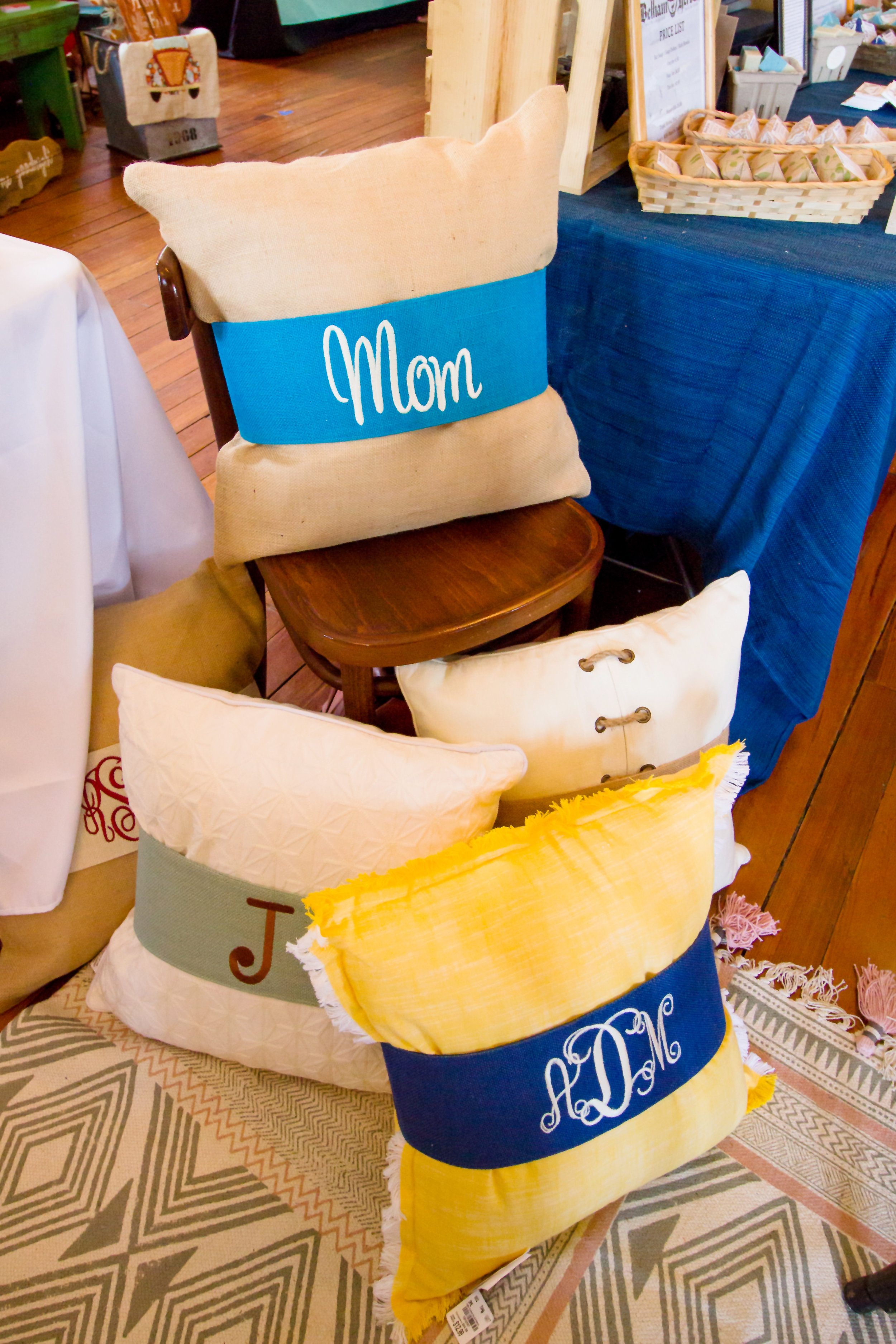 Burlap pillow wraps from   Plant & Sew  !