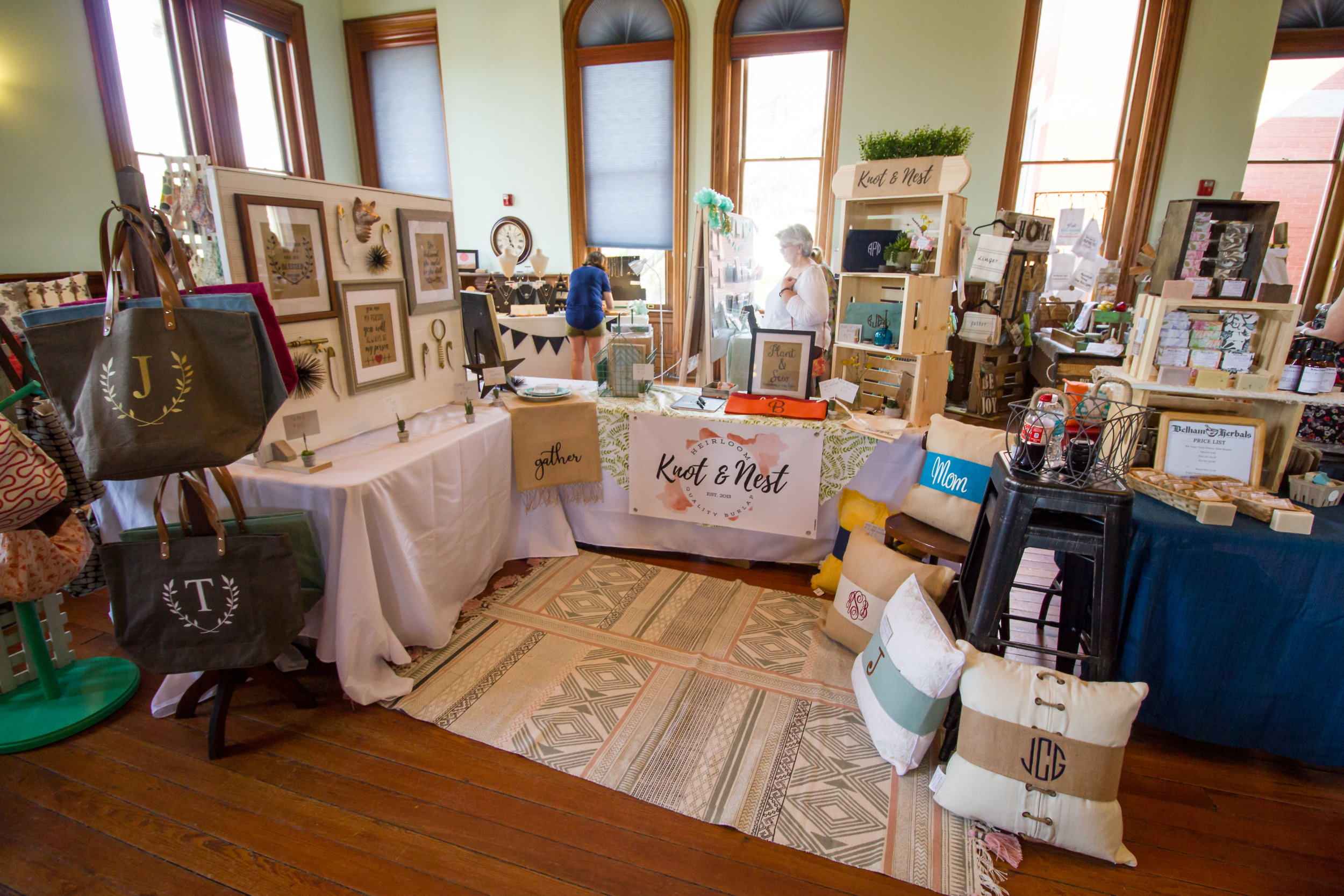 The booth for   Knot & Nest   :: Guest Books & Personalized Gifts for Any Occasion