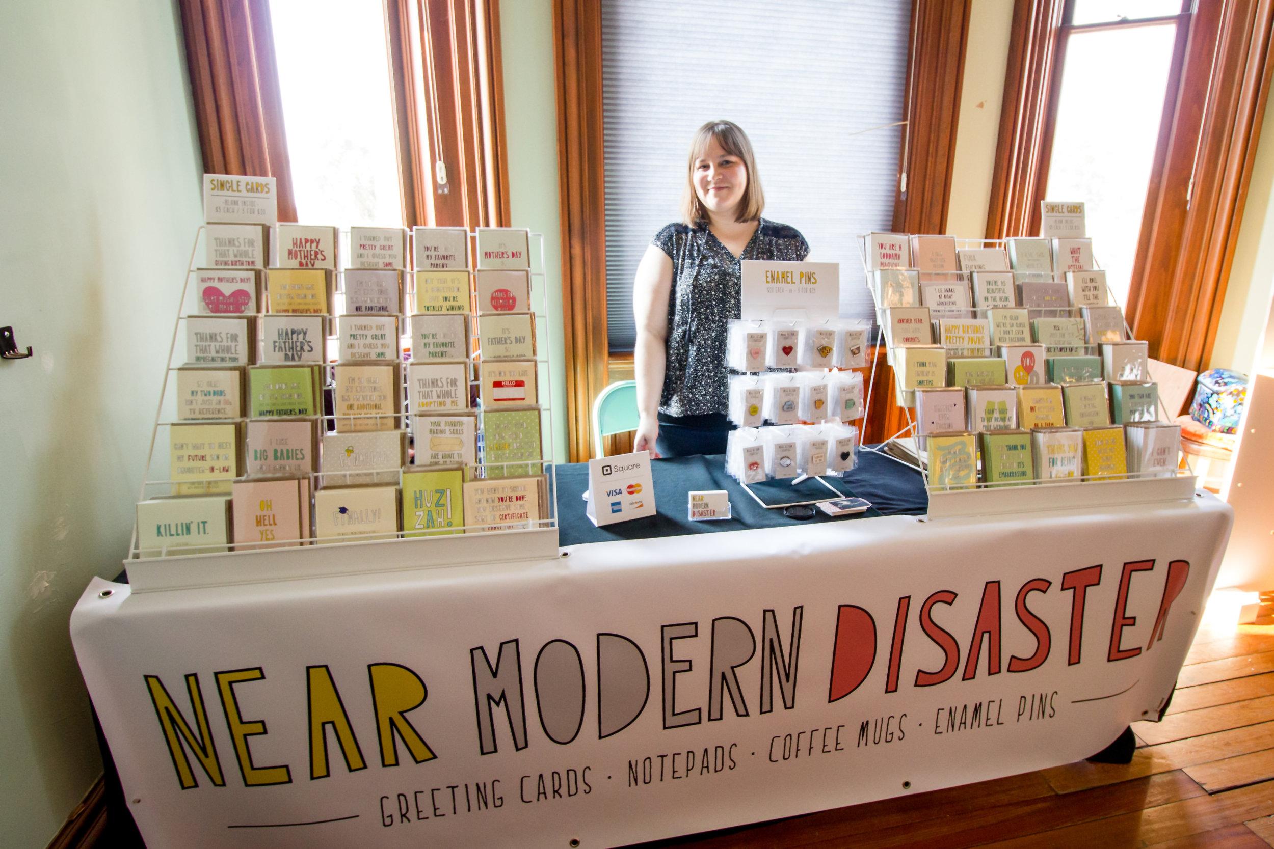 Sam Kramer representing   Near Modern Disaster   :: Brilliant note cards!!!