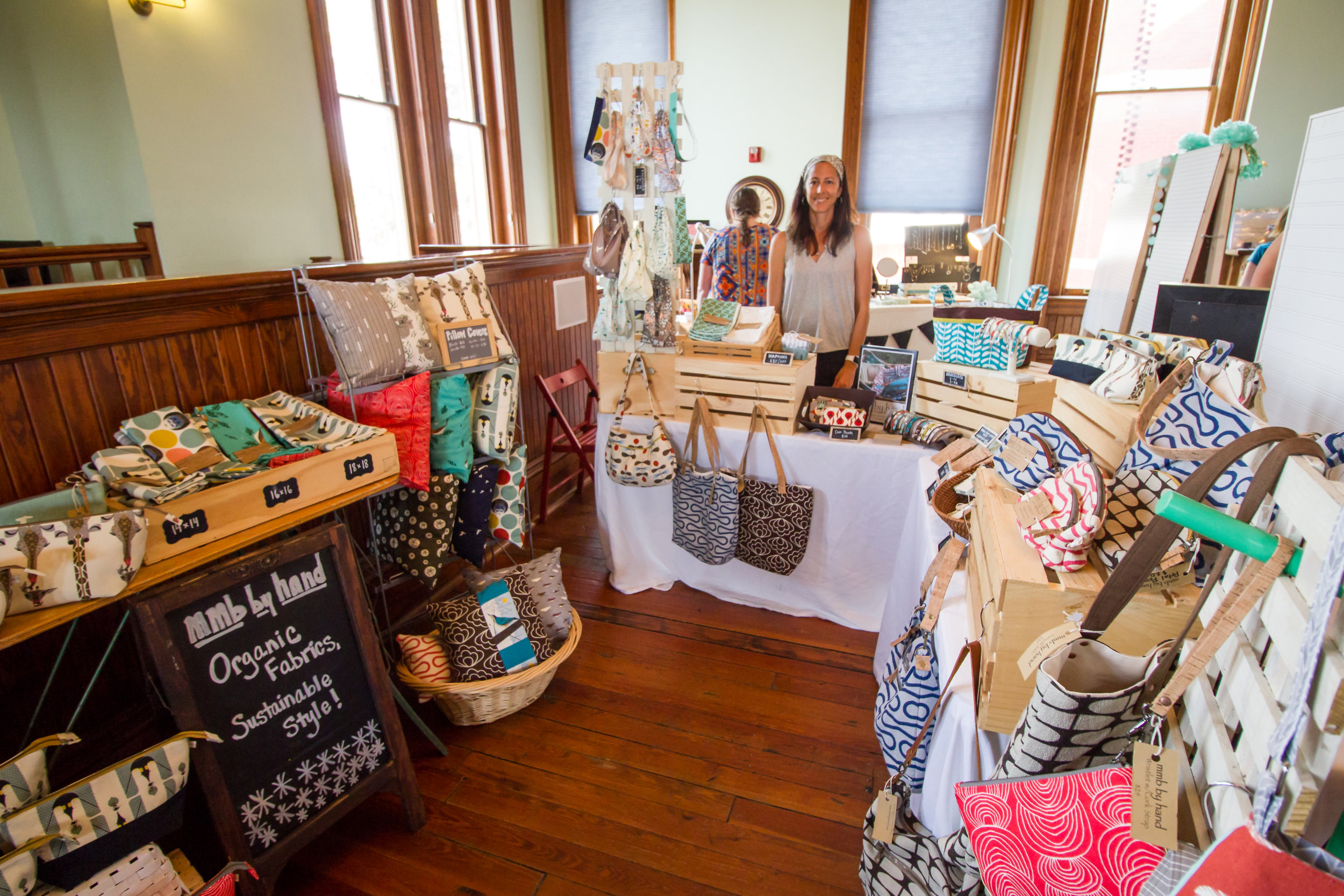Melissa Beauchamp and her shop   MMB by Hand   ::Items handmade in Savannah, GA using thoughtfully sourced, organic fabrics.