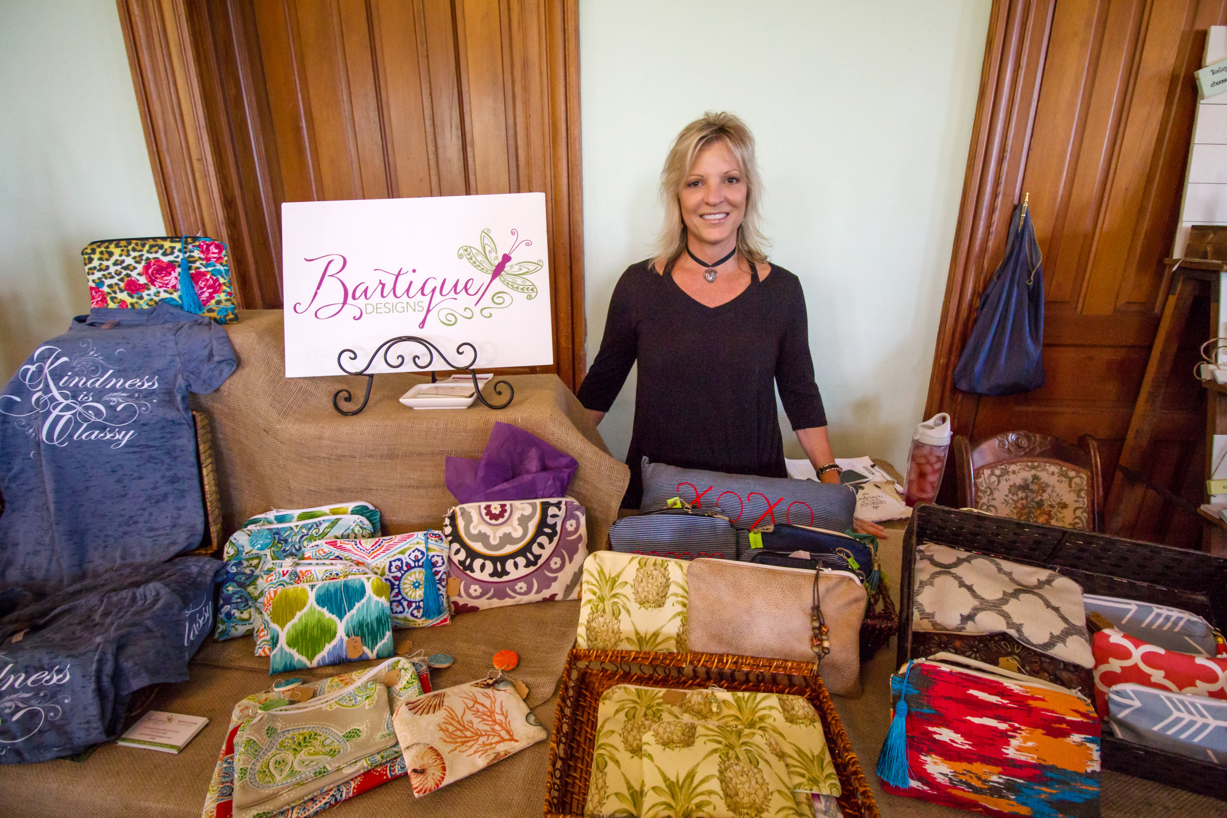 Barbara Kindle, Creative Director of   Bartique! Designs   ::We create beautiful infinity scarves, pouches and custom yoga mat bags. Place orders for our products on our website  www.bartiquedesigns.com