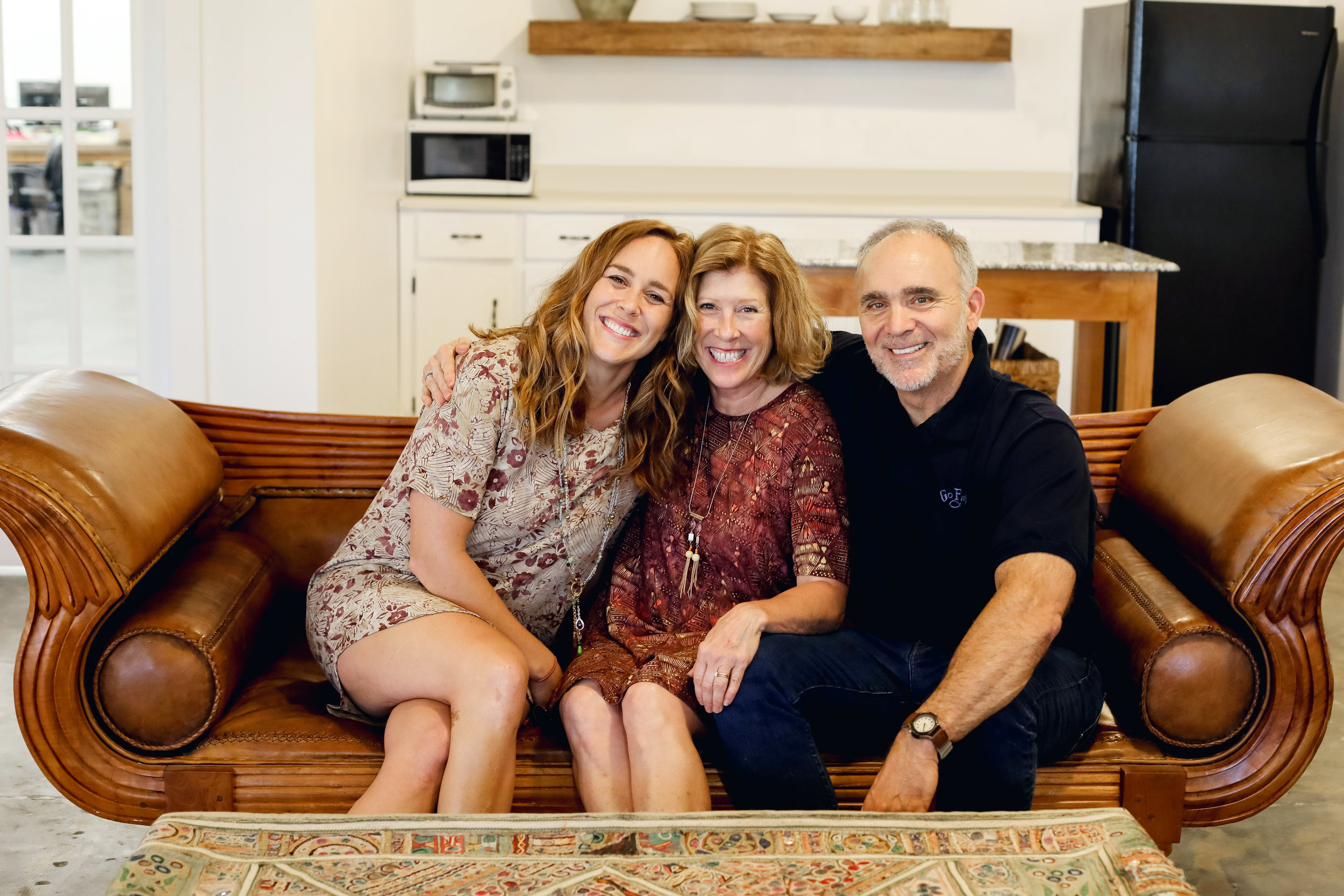 Natalie with her parents, Barbara & Curt