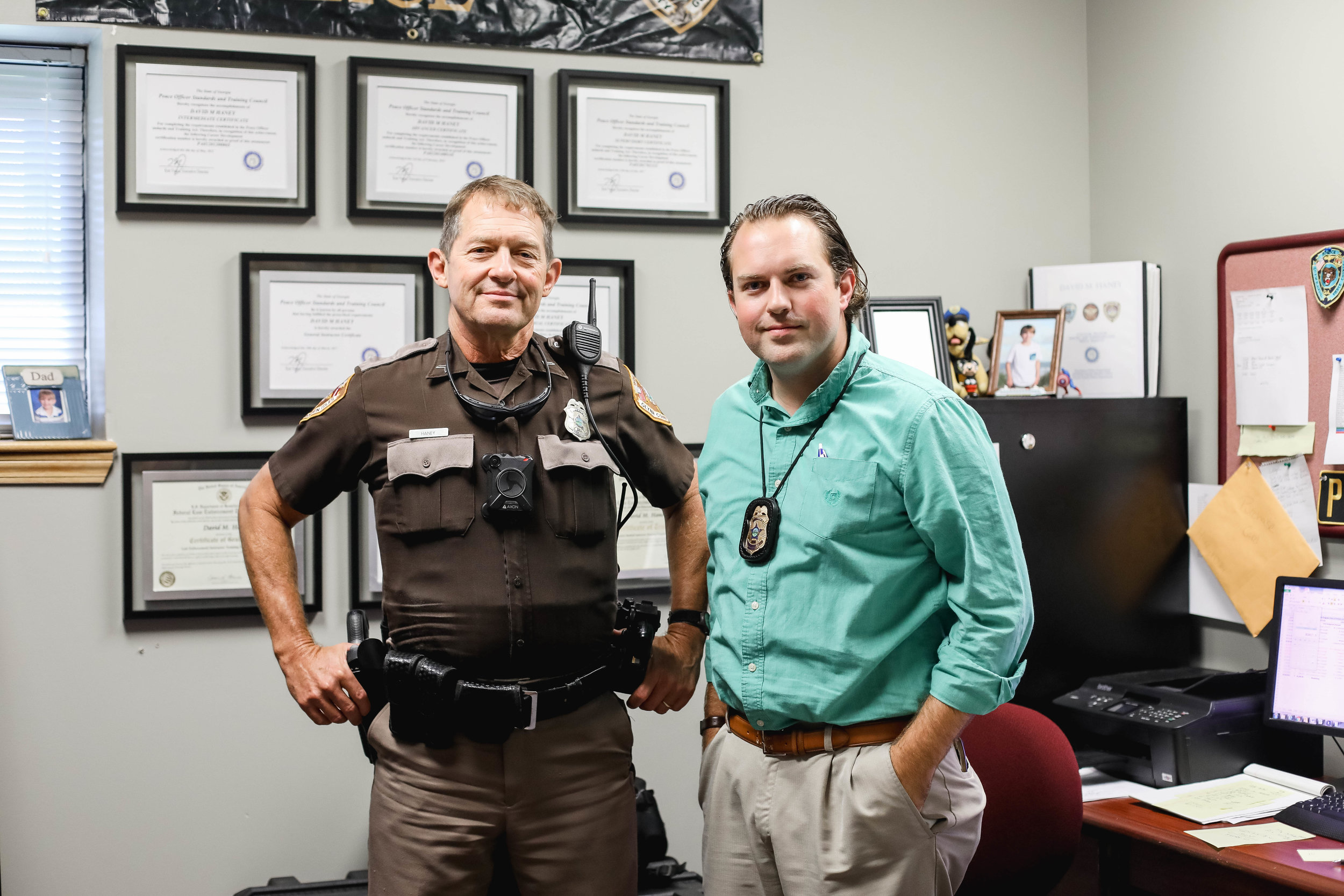 Father & son team at the Glynn County Police Department